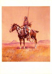 Painnting The Piegan Indian Chief By Charles M Russel