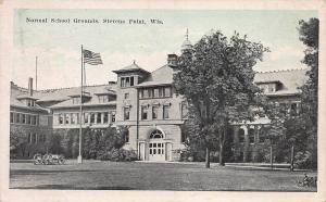 Normal School Grounds, Stevens Point, Wisconsin, Early Postcard, Used in 1923
