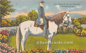 Gen Robert E Lee on Traveler - Gettysburg, Pennsylvania