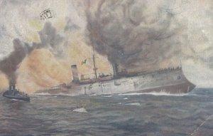 Italian Warship Giuseppe Garibaldi , 1920