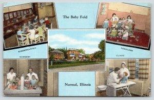 Normal Illinois~Baby Fold~Kindergarten-Nursery-Toddlers-Clinic-Exterior~1940s