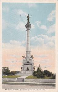 Iowa Des Moines Soldiers and Sailors Monument 1917 Curteich