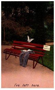 I've left here, Pants on bench, Bamforth & Co. seriess 1172