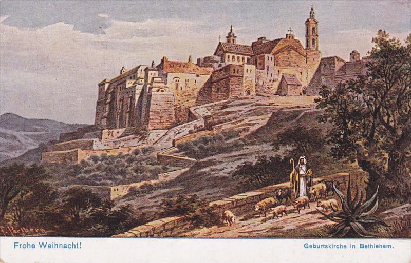 AS, Frohe Weihnachtl, Geburtskirche In BETHLEHEM, Palestine, 1900-1910s