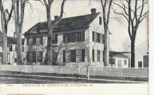 WATERFORD , Maine , 1901-07 ; Birth Place of Artemus Ward