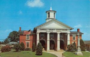 Hillsville Virginia Carroll Court House Street View Vintage Postcard K61944