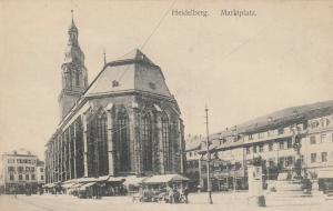 HEIDELBERG (Baden-Württemberg), Germany, 1900-10s; Marktplatz