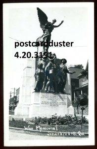 3191 - SHERBROOKE Quebec 1940s War Memorial. Real Photo Postcard