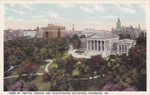 Virginia Richmond View Of Capitol Square And Surrounding Building