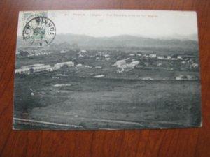 French Indo China Postcard Used 1910 Postmark Tonkin Langson