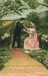 Bamforth Romance Lovers Series 4503 1907 Couple Postcard