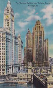 Illinois Chicago Wrigley Building & Tribune Tower