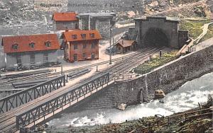 Switzerland Old Vintage Antique Post Card Goschenen Gotthardttunnel Unused