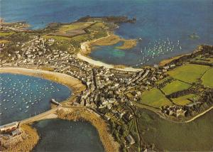 uk6396 hugh town from air st marys   uk Cornwall  Scilly Isles