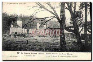 Old Postcard The Great War Ruins of Four From Paris Militaria