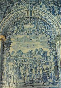 Portugal Almancil Church of St Lourenco Tiles Postcard