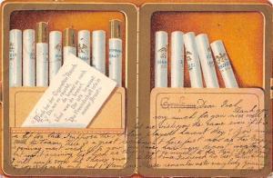 Gruss aus ... Denk bei der Cigaretten Rauch Zigarette Cigarettes Postkarte 1903