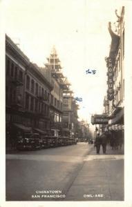 San Francisco California~Chinatown~Chop Suey~Shanghai~Noodles~Rooms~1943 RPPC