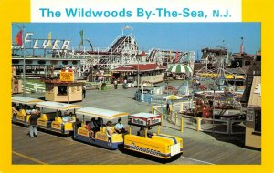 LPN89 Wildwoods by the Sea New Jersey Postcard Amusement Park Sightseer Ride