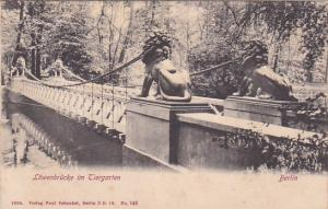 TIERGARTEN, Berlin, Germany, 1900-1910s; Lowenbrucke Im Tiergarten
