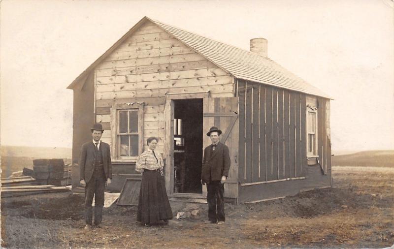 Charlson North Dakota~Pioneer Print Shop~Editor~Angel~Devil~Fat Saucy~1909 RPPC