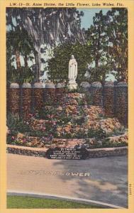 St Anne Shrine The Little Flower Lake Wales Florida Curteich