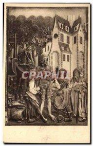 Postcard Ancient Church of St. William Strasbourg Legend of Duke William of &...