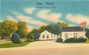 Ennis Texas Rose Motel Highway 75 Nationwide Specialty 1953 Postcard 5677