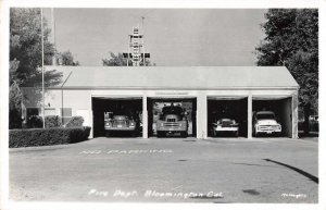 Bloomington California Fire Department Real Photo Vintage Postcard AA10924