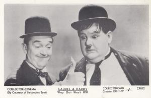 Laurel & Hardy in Way Out West Film Postcard