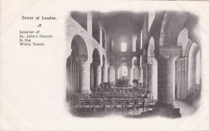Interior of St. John's Church in the White Tower of London, London England, U...
