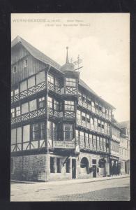 WERNIGERODE A. HARZ. ALTES HAUS GERMANY ANTIQUE VINTAGE POSTCARD