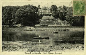 luxemburg, REMICH s. Moselle, Hotel Chateau Buschland (1935) Postcard