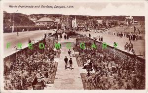 1936 Isle of Man RPPC: Harris Promenade & Gardens, Douglas