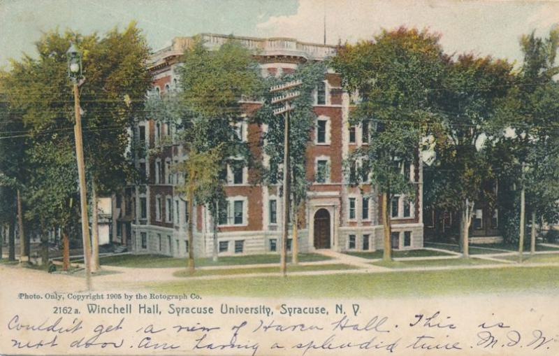 Winchell Hall at Syracuse University - Syracuse NY, New York - pm 1907 - UDB