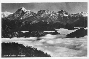 br104299 snow and clouds himalaya real photo nepal
