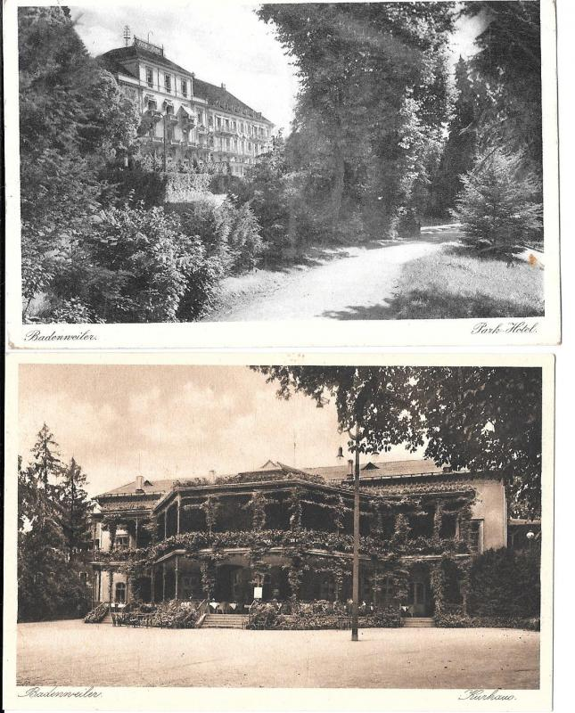 Germany - 2 Postcards from Badenweiler-(one posted)  c 1929-30 #9005