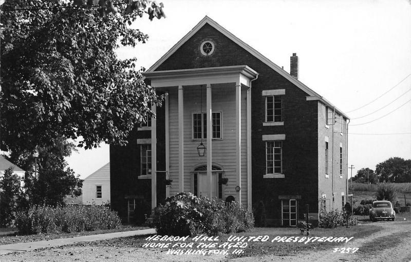 Washington Iowa~United Presbyterian Church Home for Aged~Hebron Hall~1952  RPPC