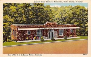 Carter County Kentucky~Cascade Cave Hotel & Restaurant~1952 Postcard