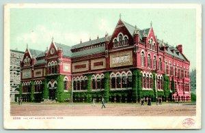 Boston Massachusetts~Art Museum~People Walking Around~c1905 Detroit Publ Co