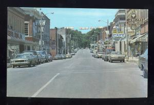 Platteville, Wisconsin/WI Postcard, Downtown Street, Old Cars