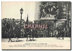 Old Postcard Fetes Army Victory 14 July 1919 the General Pershing has just pa...