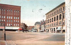 25496 NH, Dover, Central Square, horse drawn carrige nearby