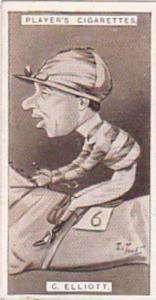 Player Vintage Cigarette Card Racing Caricatures 1925 No 14 C Elliott