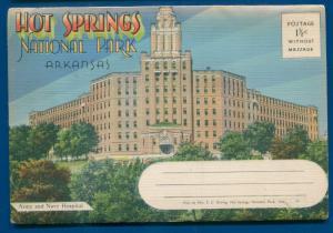Hot Springs National Park Arkansas Lake Hamilton country club postcard folder