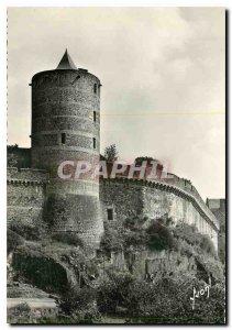 Modern Postcard Chateau de Fougeres L and V tour mélusine