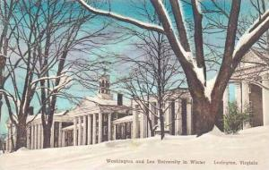 Virginia Lexington Washington & Lee University In Winter Handcolored Albertype