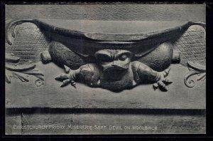 Devil on Woolsack,Missererie,Christchurch,England,UK