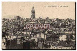 Montpellier - Vue Generale - Old Postcard