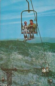 Vermont Stowe Double Chair Lift Mt Mansfield 1963